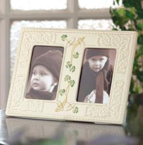 Belleek China Tara double 3 x 5 Frame WBB3006