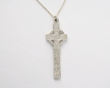 Sterling Silver Ogham Scriptures Clonmacnoise High Cross Pendant WBFXP52SIL