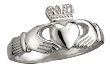 Ladies Sterling Silver Claddagh Ring WBS2271