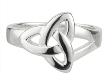 Sterling Silver Trinity Knot Ring WBS2679
