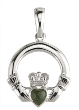 Sterling Silver Claddagh with Connemara Marble Pendant WBS4555