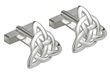 Rhodium Plated Trinity Knot Cuff Links WBS6449