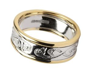 Ladies 14k Gold Le Cheile Celtic Knot Wedding Band WBWED107