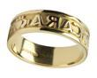 Mens 14k Gold  Mo Anam Cara My Soul Mate Wedding Band WBWED184