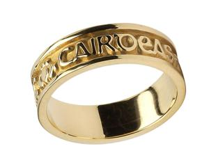 Ladies 14k Gold Gra Dilseacht Cairdeas Love Loyalty Friendship Wedding Band WBWED213