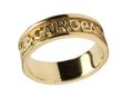 Ladies 14k Gold Gra Dilseacht Cairdeas (Love Loyalty Friendship) Wedding Band WBWED213