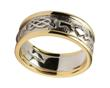Ladies 14K Gold Claddagh Celtic Knot Wedding Band WBWED247