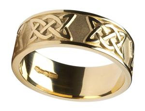 Mens 14k Gold Lovers Knot Wedding Band WBWED295
