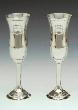 Wedding Pewter Champagne Flute Set with Claddagh Design WBQ3LC